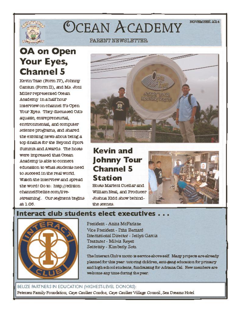 OA-Nov-Parent-Newsletter  2014-pdf